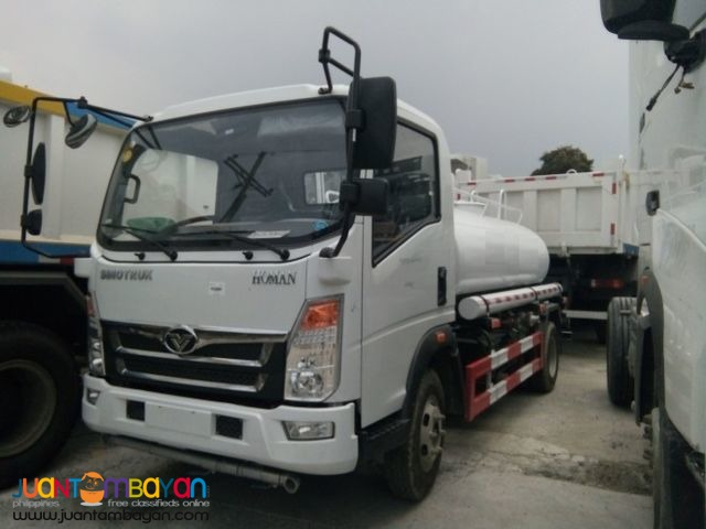 (FOR SALE) Brand New 6 Wheeler HOMAN Water Truck 4,000L Euro 4