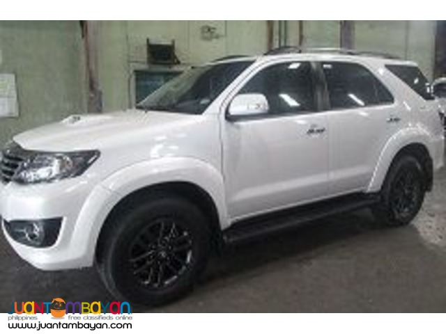 TOYOTA FORTUNER FOR RENT A CAR