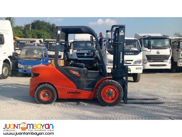 for sale 3.5 tons forklift lonking lg35dt for sale brand new!