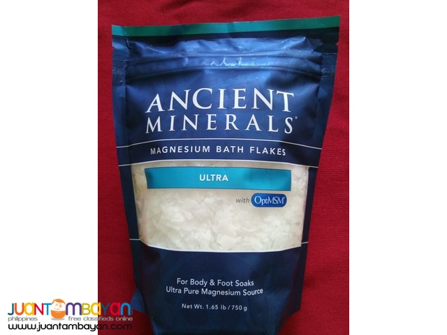 Ancient Minerals Magnesium Flakes ULTRA with OptiMSM 165lb