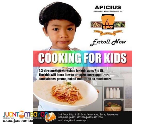 Apicius Culinary Arts Cooking for kids!