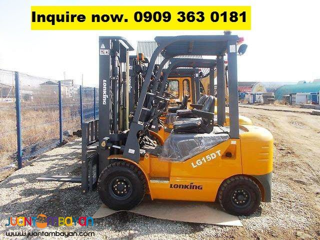 Forklift LG15DT Lonking 1.5 tons TCM counterpart FD15