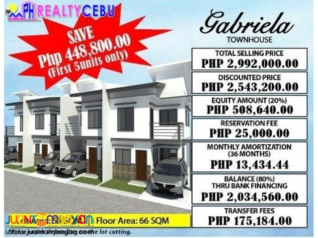 4BR HOUSE FOR SALE AT CITADEL ESTATE LILOAN CEBU- GABRIELA MODEL