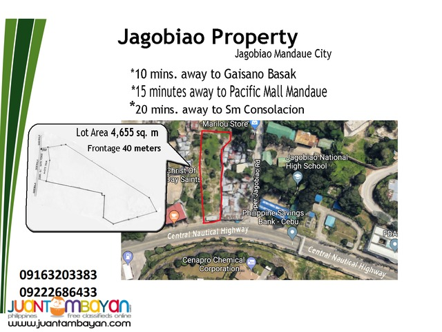 For Sale or Rent commercial lot located at Jagobiao Mandaue