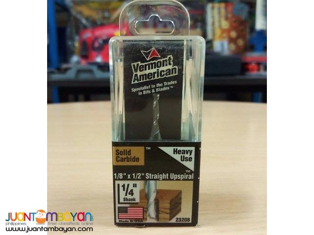 Vermont American 23208 1/8-inch x 1/2-inch Upspiral Router Bit