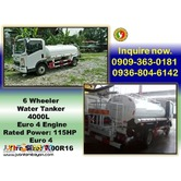 6 WHEELER WATER TRUCK 4 CUBIC EURO 4