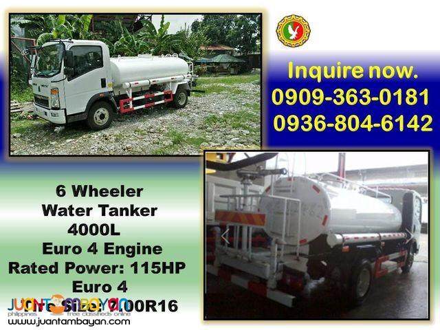 6 wheeler water truck 4 cubic