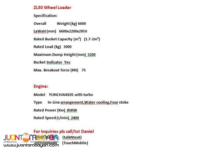 ZL30 Wheel Loader