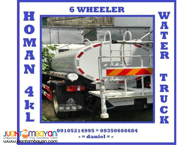 6 WHEELER HOMAN WATER TRUCK 4K