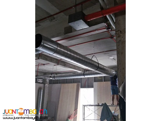 Ducting. Spiral Duct. Flexible duct. Rectangular Duct