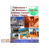 8D7N USA Yellowstone & Mt. Rushmore Free and Easy
