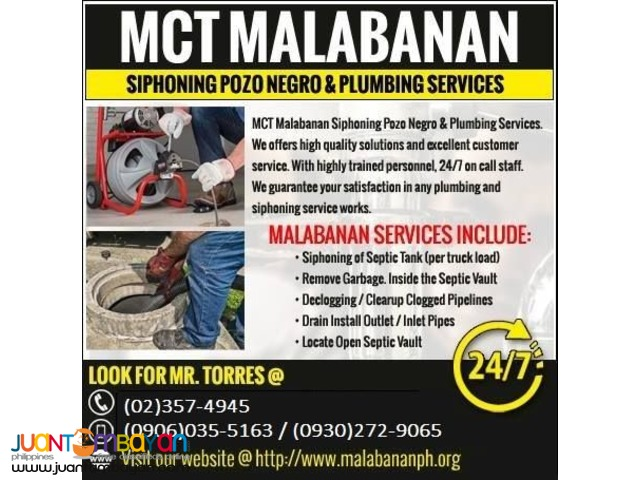 MCT Septic Tank And Declogging services
