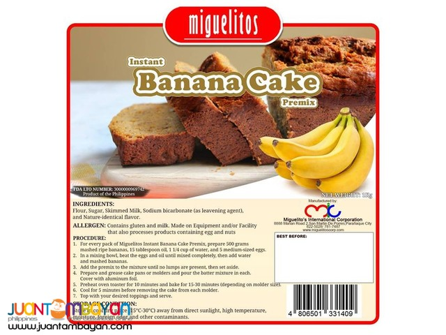 MIGUELITOS BANANA CAKE MIX