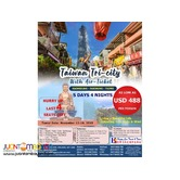 5D4N Taiwan Tri-City with Air Ticket Package