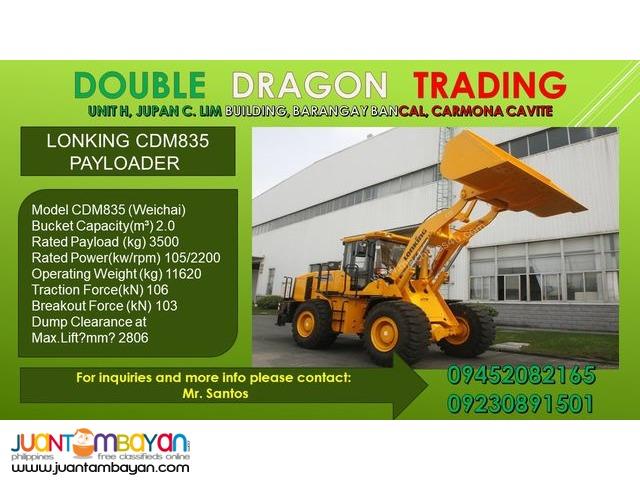 LONKING CDM835 WHEEL LOADER / PAYLOADER