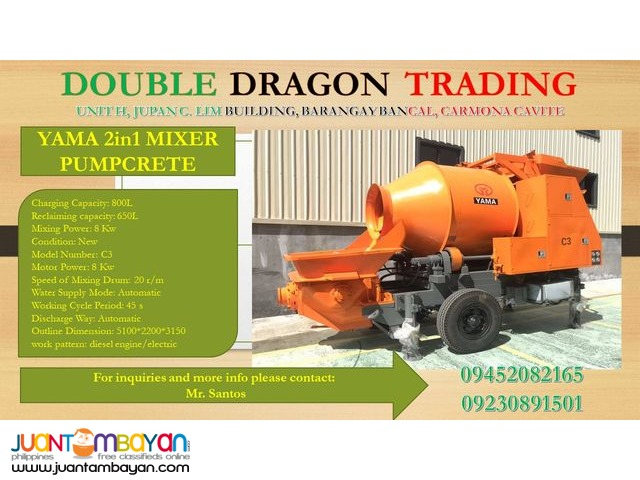 YAMA 2 In 1 MIXER AND CONCRETE PUMP