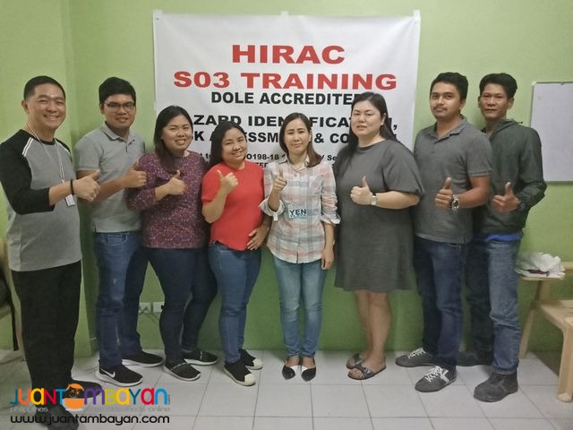 Online Hirac Training Pampanga Dole Accredited So3 Safety Officer 3