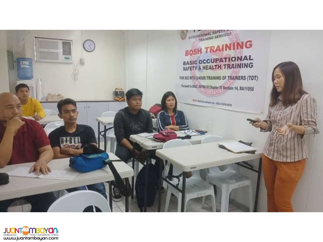 Online BOSH Quezon City Basic Occupational Safety And Health DOLE