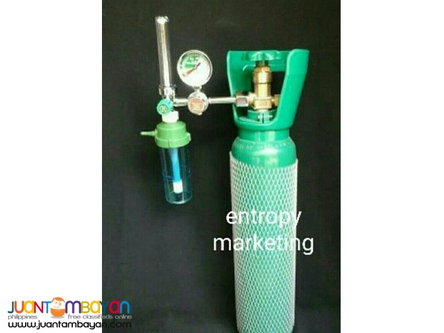 Portable Medical Oxygen Tank with oxygen regulator Complete set