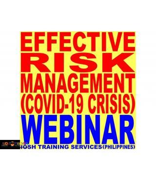 Webinar On Effective Risk Management COVID-19 Crisis Webinar