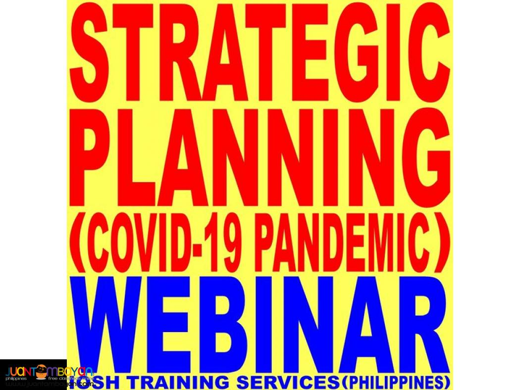 Webinar Strategic Planning COVID-19 Pandemic Webinar