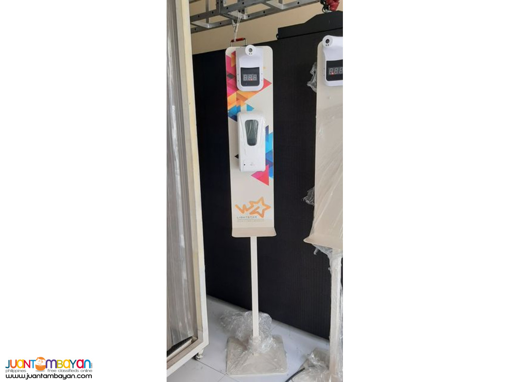 Alcohol Dispenser and K3 Temperature Scanner with Metal Stand