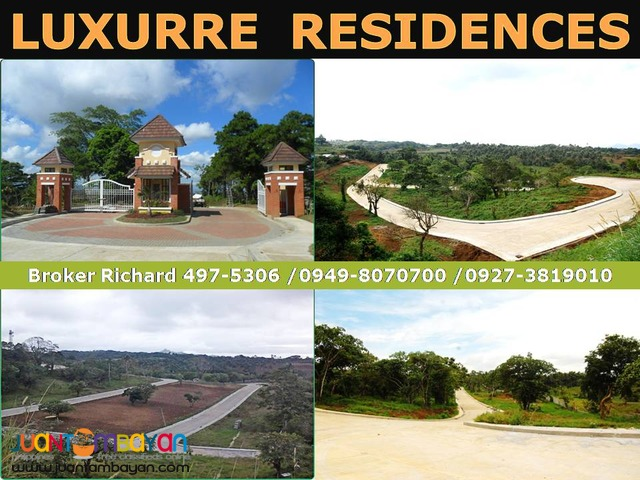 LUXURRE TAGAYTAY Subdivision Lots = 7,500/sqm  - ₱1,500,000.00