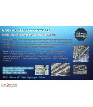 Supply and installation of ducting system and ventilation system