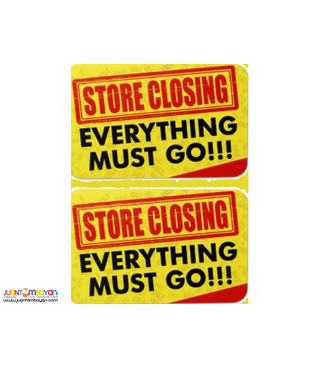 Buy Now Big Sale Company Closing due to Pandemic Cubao Qc