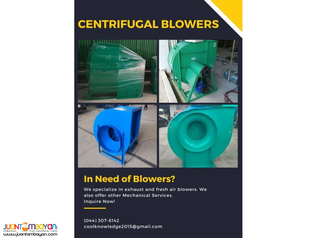 Blower(Exhaust/Fresh Air)-Supply and Installation