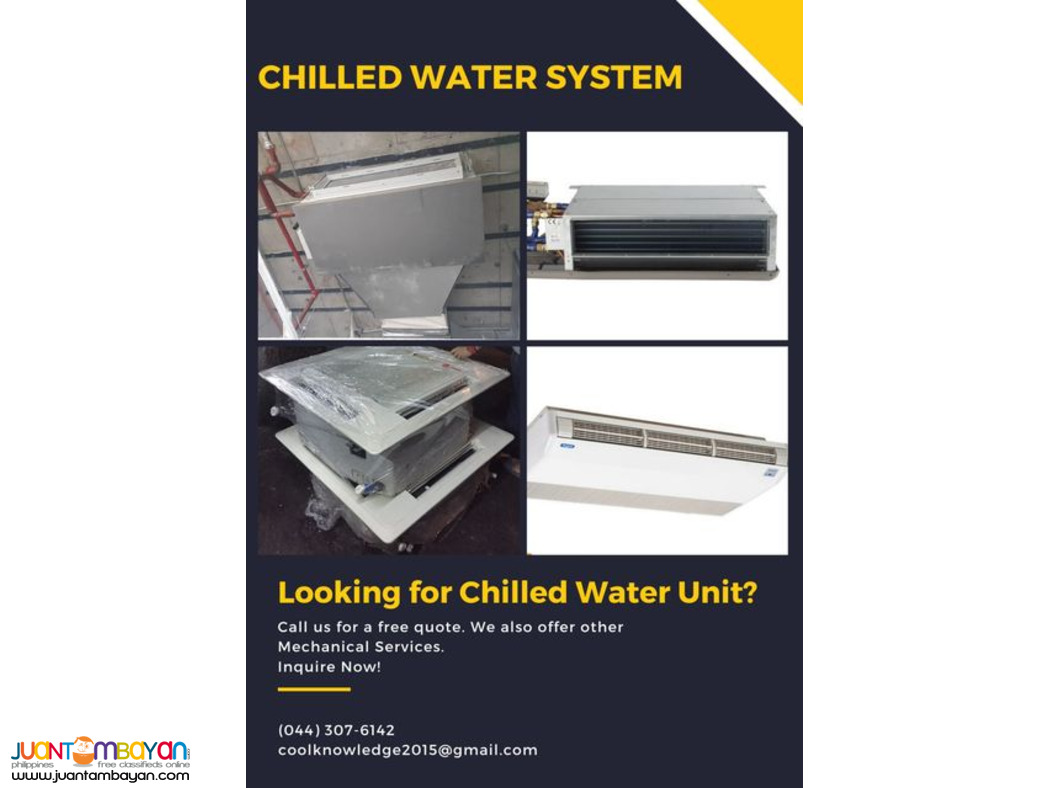 Chilled water system-Supply and Installation