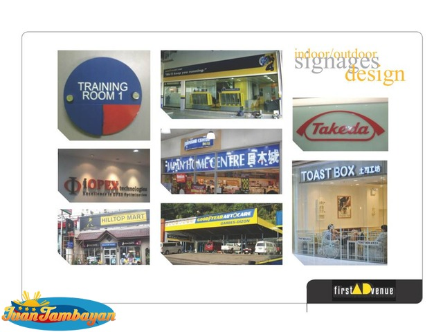 Signage - Tarpaulin, Billboard, Build up, Pylon, Stainless ,Booth, Module, Float