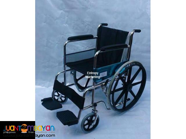 Wheelchair with Magwheels canvas seat