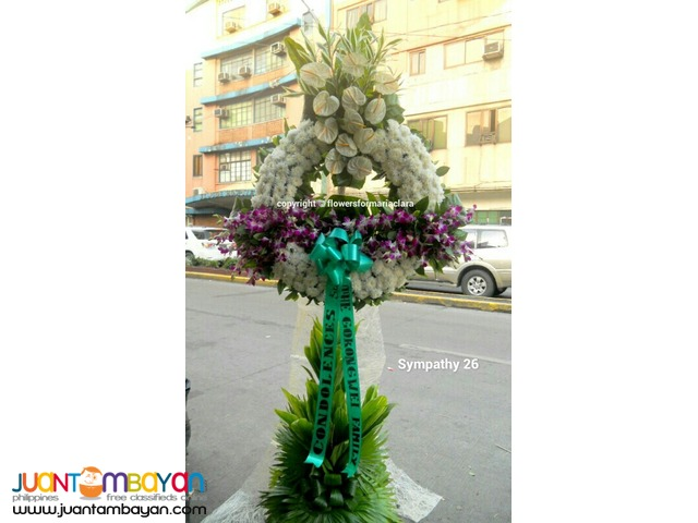 Sympathy funeral wreath flowers delivery metro manila