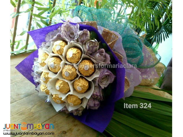 ferrero bouquet fresh roses tulips flowers delivery