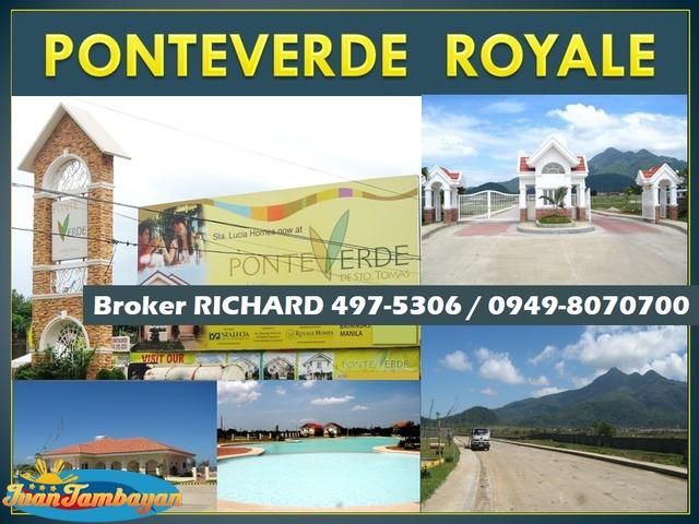 PONTEVERDE ROYALE Sto Tomas Batangas  Lots = 4,200 to 4,900/sqm