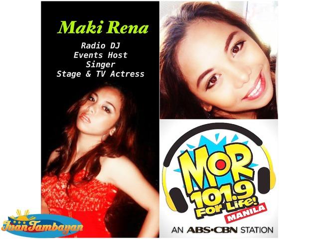 Radio DJ Event Host Singer Maki Rena