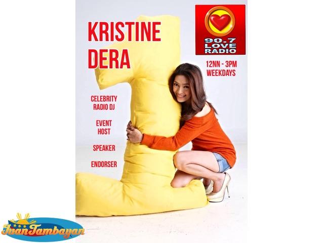 event host emcee speaker voice over Kristine Dera