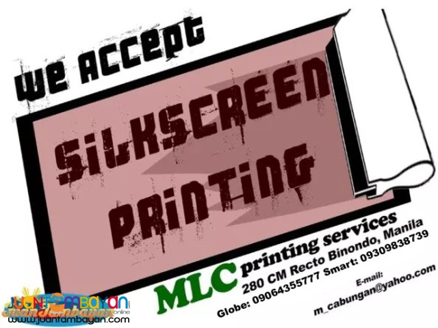 Silkscreen Printing All Kind
