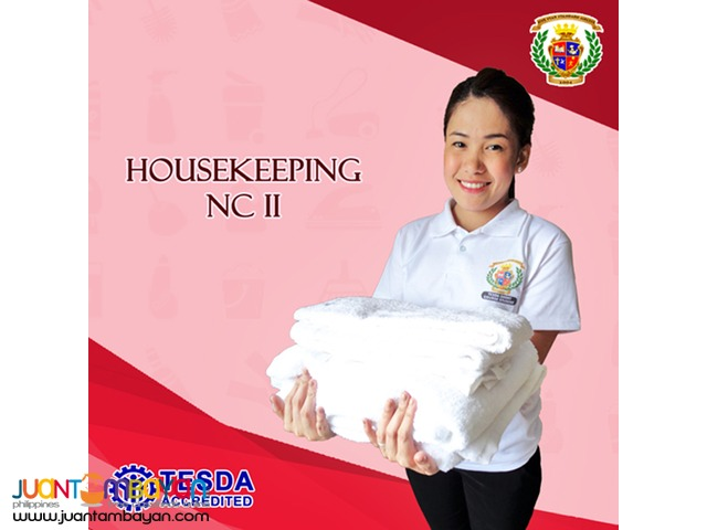 Housekeeping NC II ( TESDA Registered Short Course ) in Bacoor Cavite