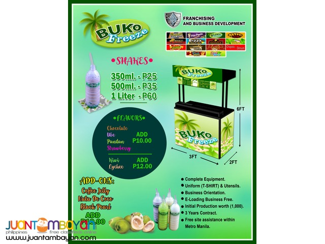 Buko Freeze , Foodcart , Food Cart Franchise, 2in1, 3in1 available