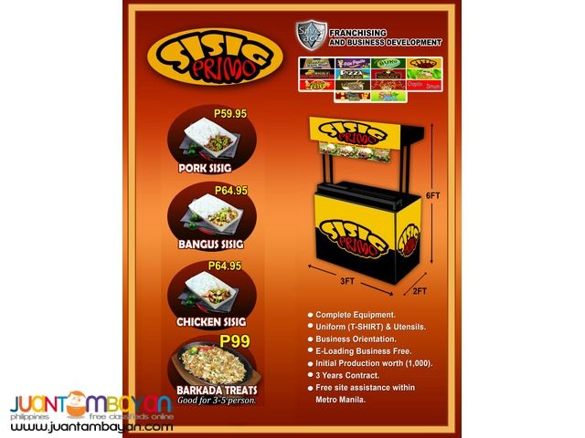 Sisig Primo , Foodcart , Food Cart Franchise.