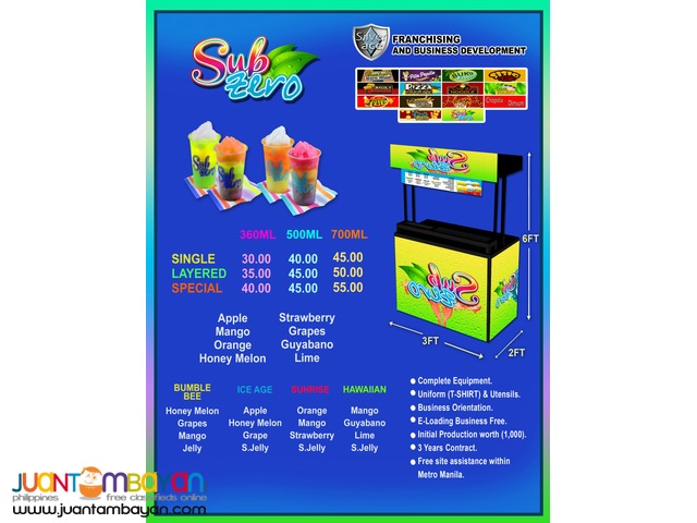 Sub zero , Foodcart , Food Cart Franchise , 2in1 , 3in1 ,Drinks