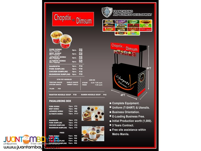 CHOPSTIXnDIMSUM , Foodcart , Food Cart Franchise , Premium Cart