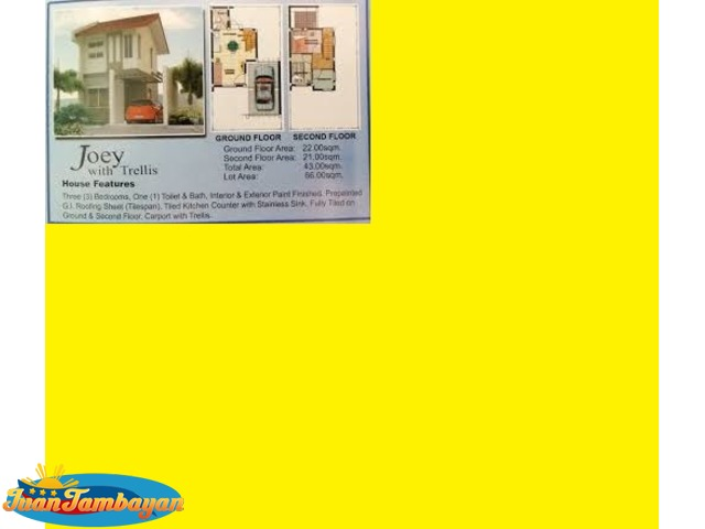 Joey Model House at Villa Arsenia in Mambog Cavite Single Attach