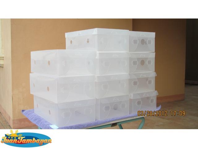 Clear Plastic Shoe Box
