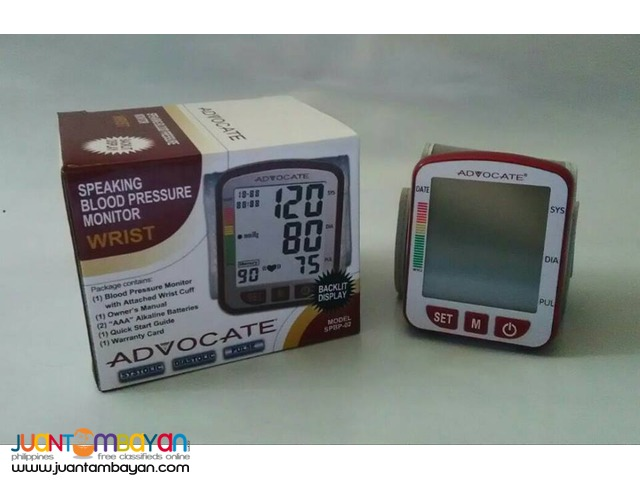 Talking Wrist Digital BP Blood Pressure Monitor