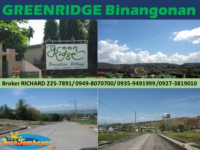 GREENRIDGE Binangonan Rizal Subdivision Lots = 5,000/sqm