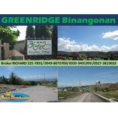 GREENRIDGE Binangonan Rizal Subdivision Lots = 5,000/sqm