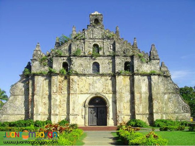 Ilocos Tour Package  with 1 wholeday tour choice of Tour 1 or 2